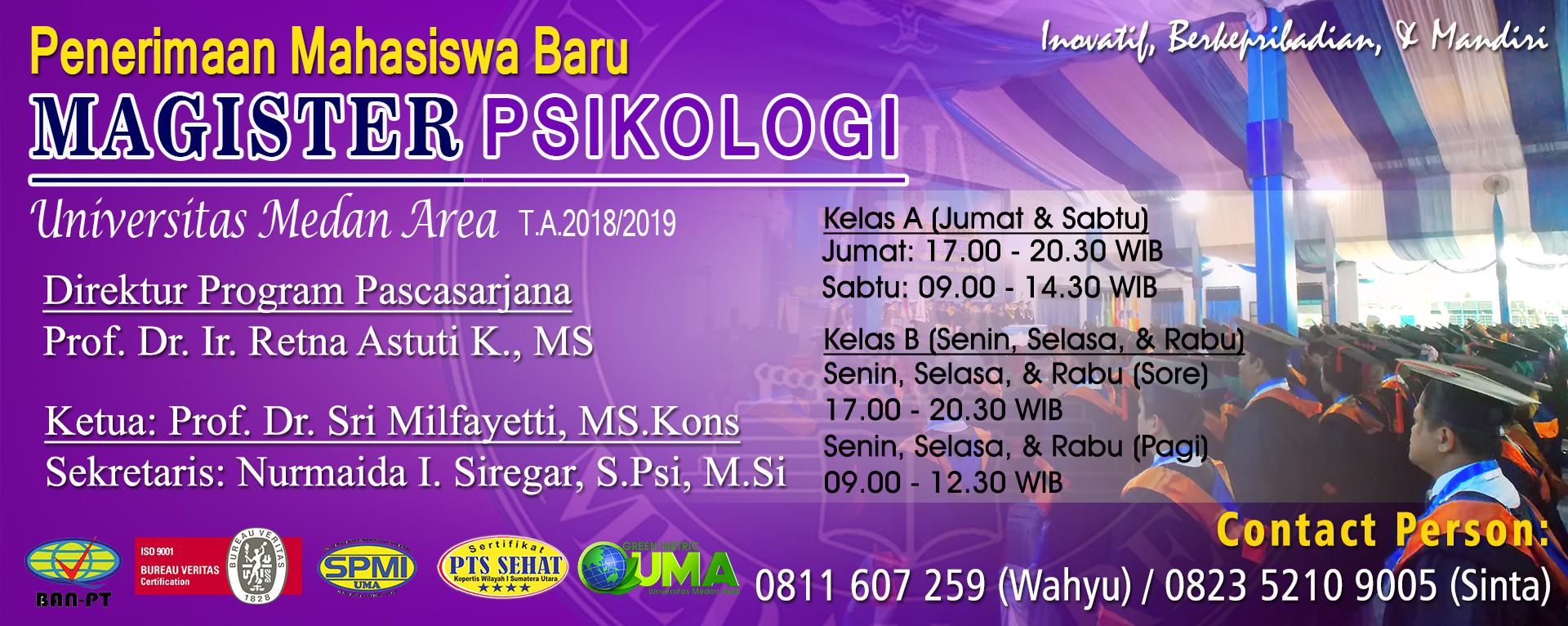 Penerimaan Mahasiswa Baru MPSI TA 2018/2019